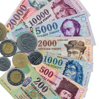 Hungarian Forint Currency Notes Coins