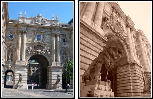 Budapest Lions Gate Royal Palace