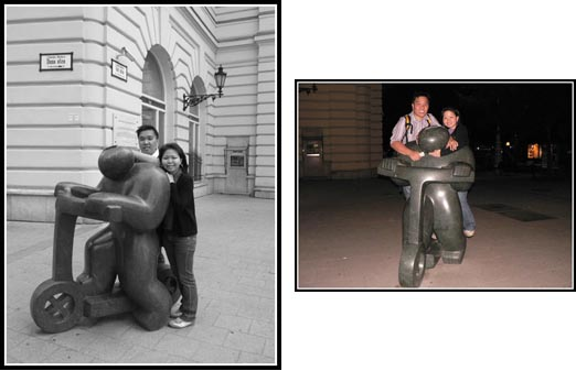Budapest Scooter Statue