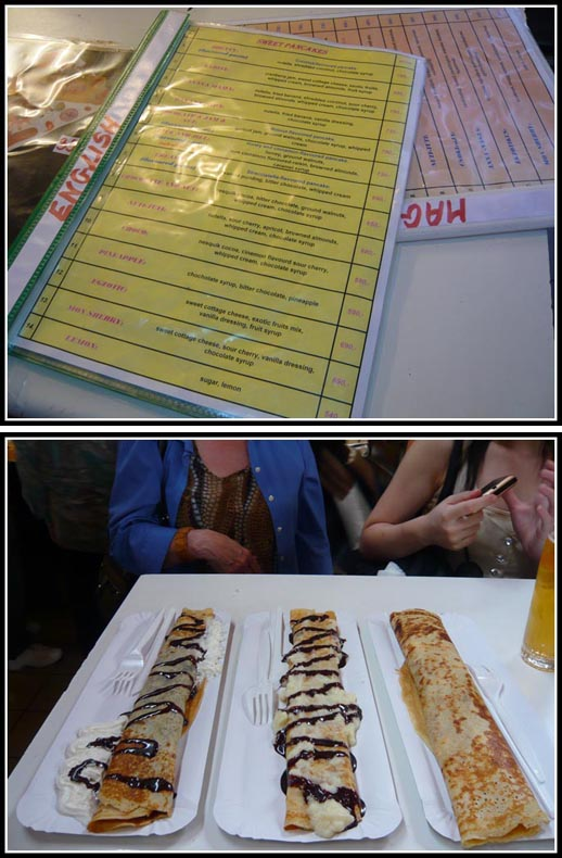 Selection of Tasty Crepes from Budapest Marketplace