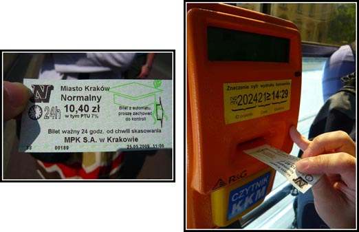 Validate Krakow Tram-Bus Tickets