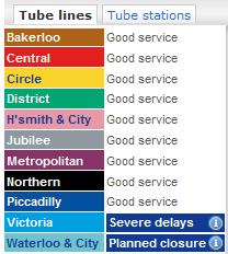 London Tube Service Update