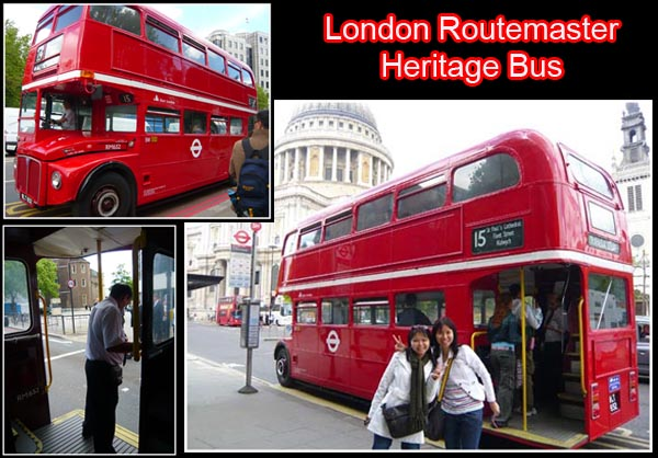 London routemaster heritage bus