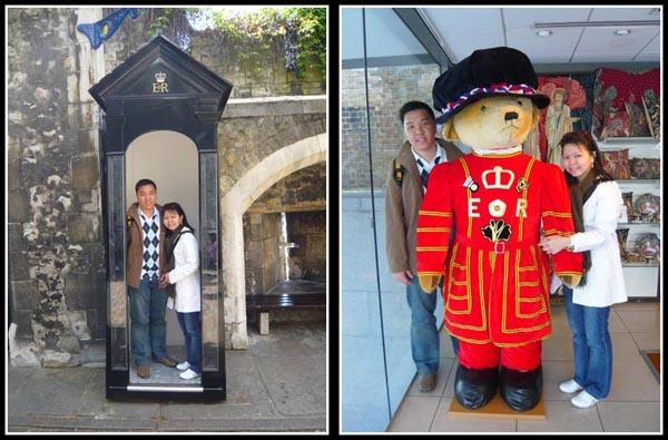 Paddington Bear and Tower of London Guard Post