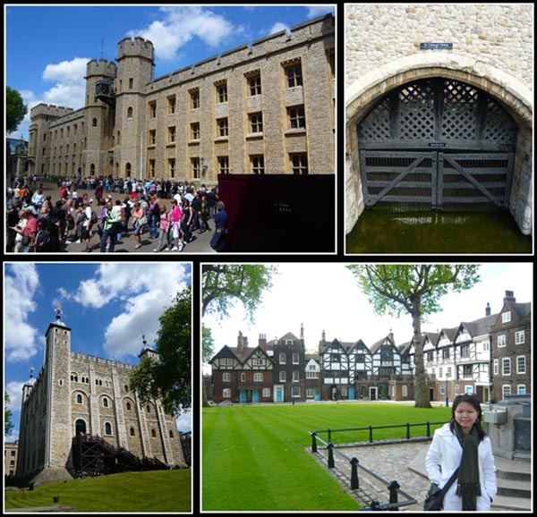 Traitor's Gate, White Tower, Jewel House, Queen's House (Tower of London)