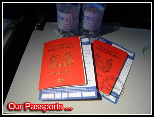 UK Landing Card with Passports