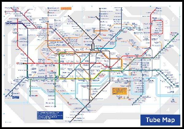 london tube map Changing lines can involve quite a fair bit of walking too.