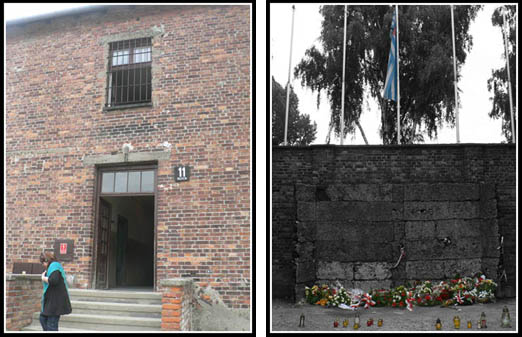 Auschwitz Death Block 11 - Death Wall