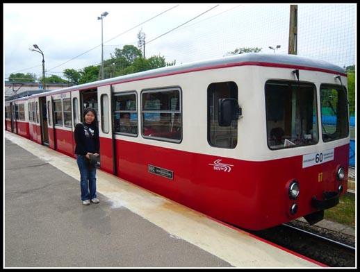 Fogaskerekű vasút (Cogwheel Train Budapest Hungary)
