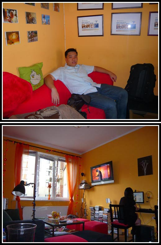Greg and Tom Hostel Lounge