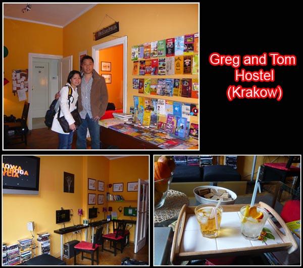 Greg and tom Hostel reception Krakow