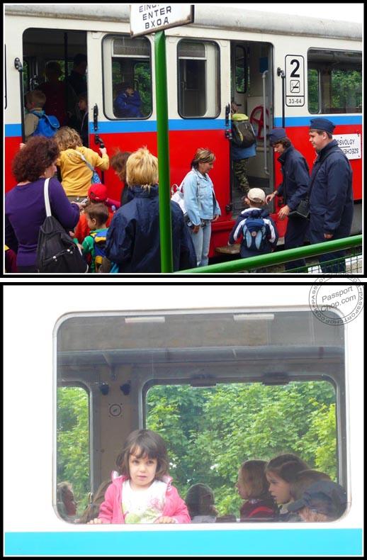 Gyermekvasut Children's Railway Passengers