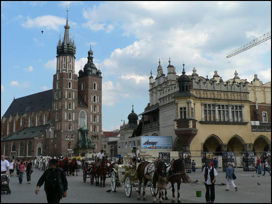 Krakow Marketplace St Mary's Church