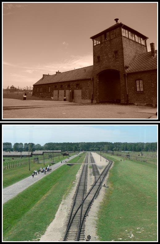 Main Gate of Birkenau Camp - Railroad to Death