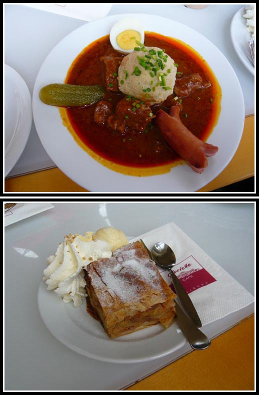 Schonbrunn Gloriette Lunch Beef Goulash Apple Strudel