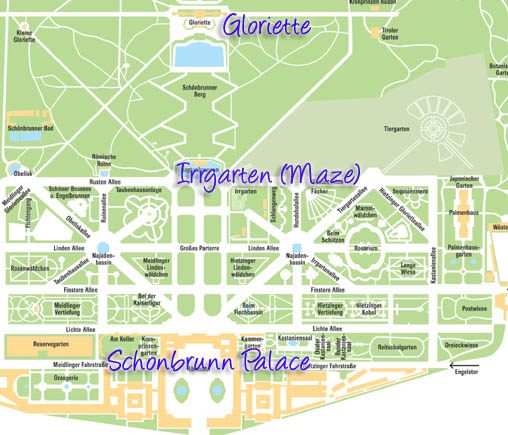 Schonbrunn Palace Map