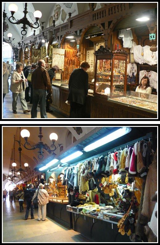 Souvenir Shops in Krakow Cloth Hall - Sukiennice