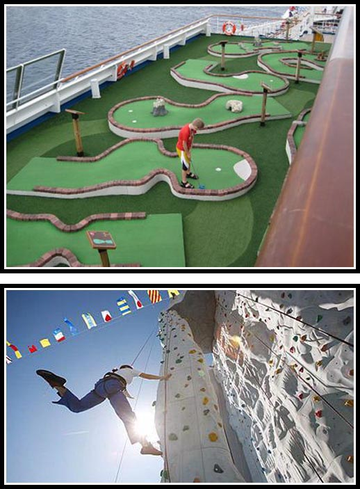 Miniature Golf and Rock Climbing @ Cruise