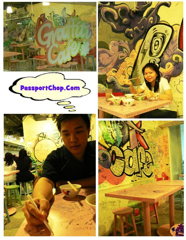 Far East Plaza Graffiti Cafe Table Drawings