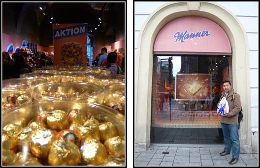Vienna Manner Chocolate Shops Stephenplatz