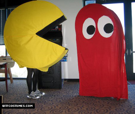 pacman and ghost costume