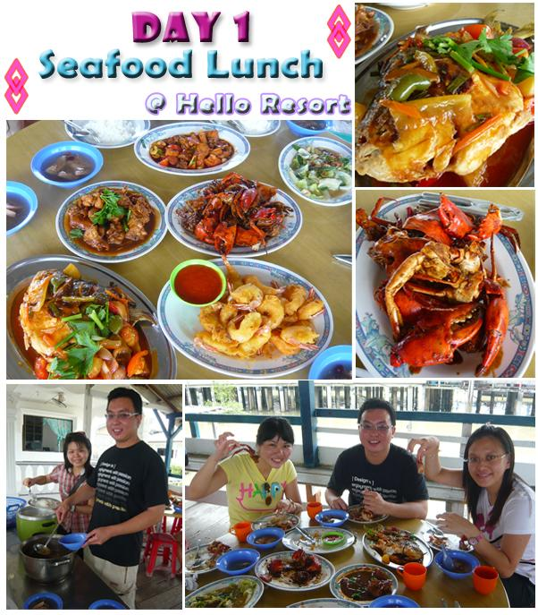 Kukup Seafood Lunch - Fresh Crabs, Prawns