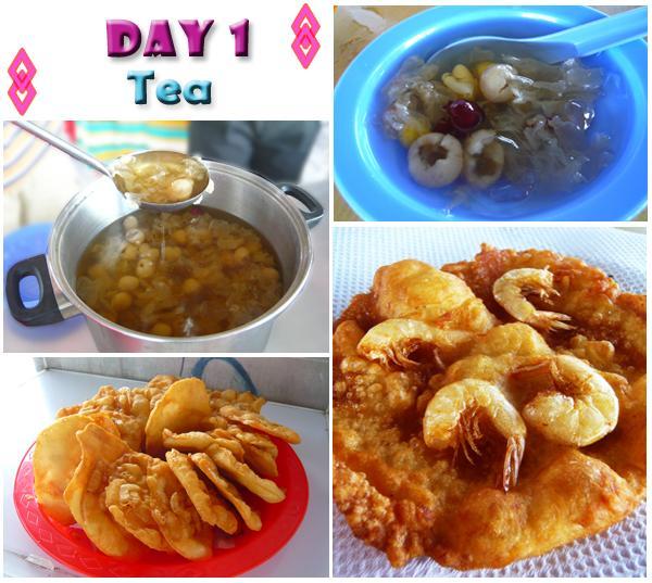 Kukup Fried Prawn Crackers with Cheng Teng Dessert Teabreak