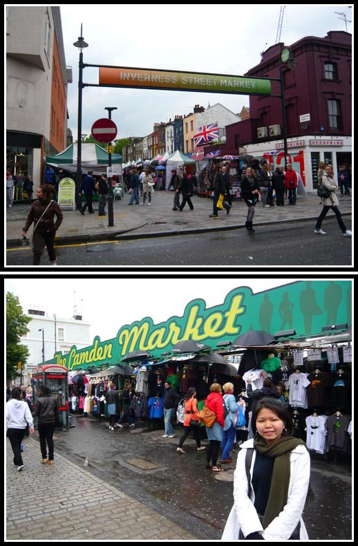 Inverness Street Market and Camden Market