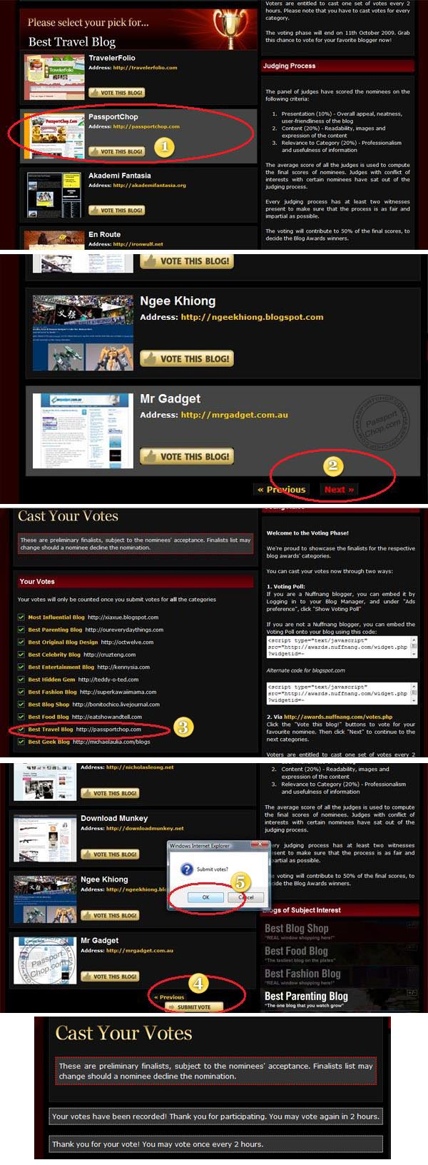Nuffnang Blog Awards Step by Step