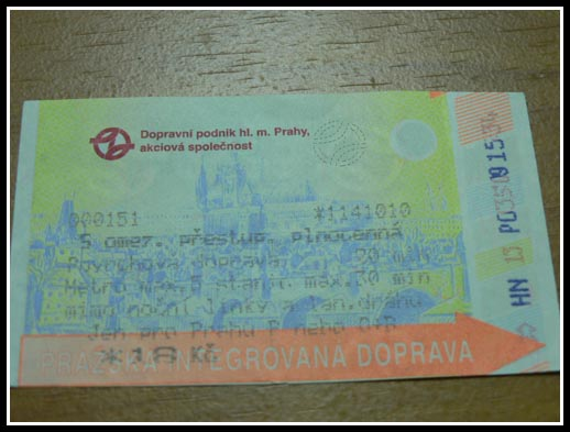 Prague Public Transport Tickets Automated
