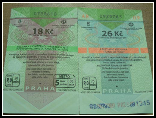 Prague Public Transport Tickets Manned