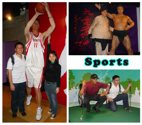 Madame Tussauds Hong Kong Wax Museum Sports Characters