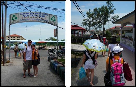 Walking into Kukup Fishing Village Malaysia