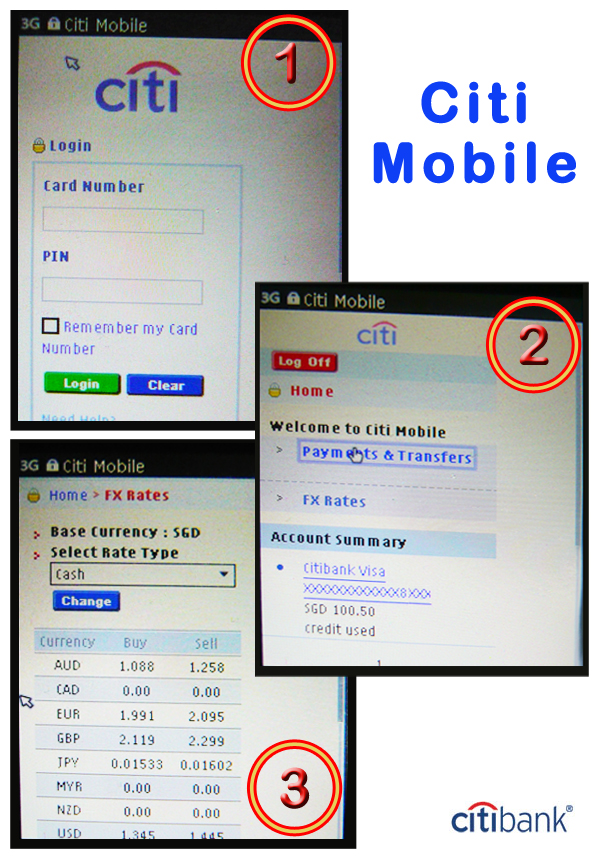 Citibank Mobile Step by Step