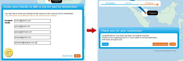 KLM 90th Anniversary Inspiration Game Question Contest Referral