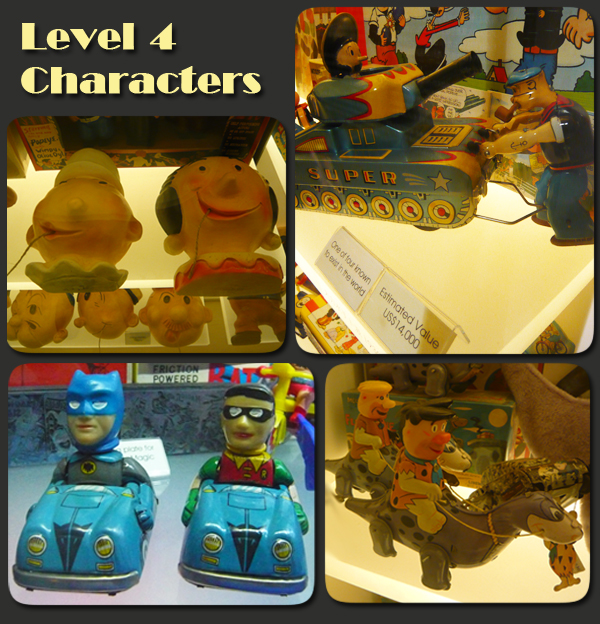 Mint Museum of Toys Level 4 Characters