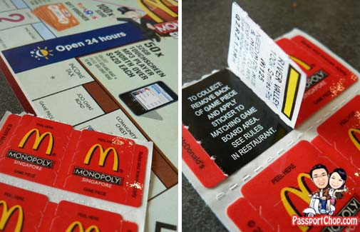 mcdonalds singapore monopoly game