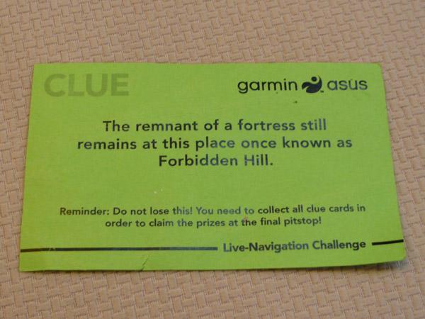 Asus Garmin Live Challenge Final Clue