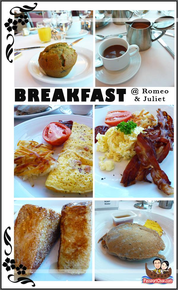 Royal Caribbean Cruise Legends of the Sea Romeo & Juliet Restaurant breakfast