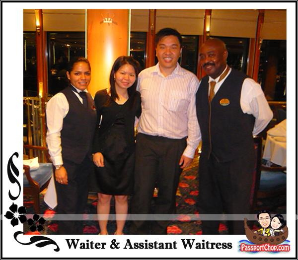 Royal Caribbean Cruise Legends of the Sea Romeo & Juliet Restaurant Waiters Service