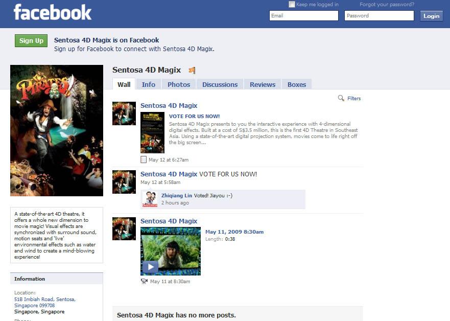 facebook sentosa 4d magix