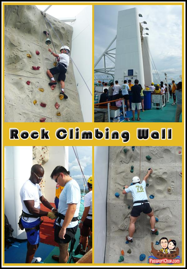 Royal Caribbean Cruise Legend of the Seas Rock Climbing Wall