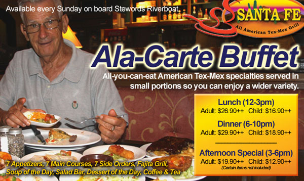 Stewords Riverboat Tex-Mex Ala-Carte Buffet