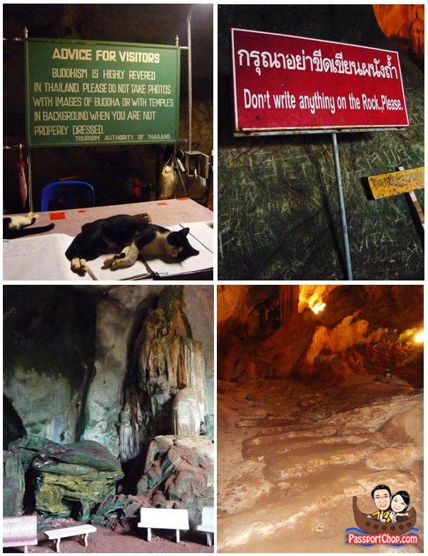 Suwan Khuha Cave Temple Buddha Statues Limestone