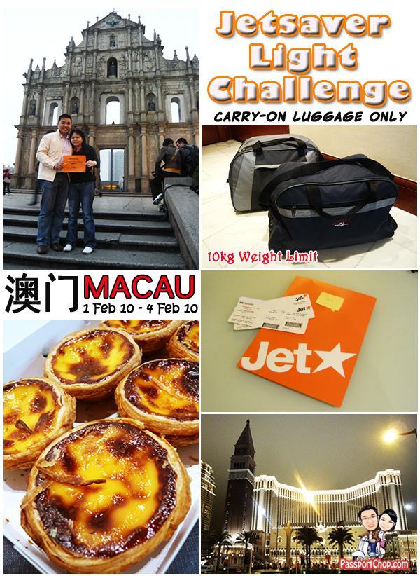 JetStar Asia Jetsaver Light Challenge Macau