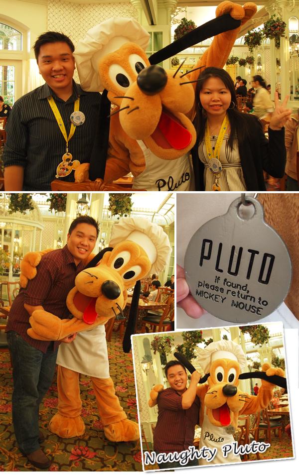 Hong Kong Disneyland Enchanted Garden Disney Characters Pluto