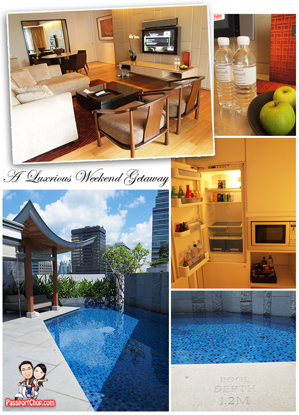Marriott Singapore Hotel Tang Sok Kiar Suite Living Room and Private Pool
