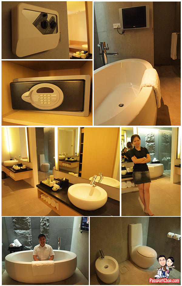 Singapore Marriott Hotel Tang Sok Kiar Suite Vanity Corner and bathroom