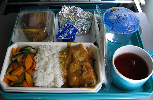 Cabin Silkair Plane Food