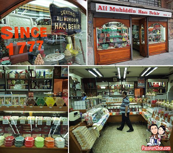 Ali Muhiddin Haci Bekir Confectioners Turkish Delight Lokum Istanbul